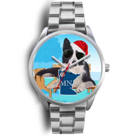 Border Collie Minnesota Christmas Special Wrist Watch-Free Shipping