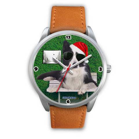 Border Collie Colorado Christmas Special Wrist Watch-Free Shipping