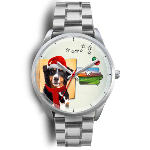 Bernese Mountain Dog Iowa Christmas Special Wrist Watch-Free Shipping