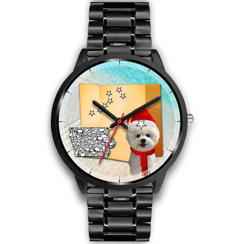 Bichon Frise Iowa Christmas Special Wrist Watch-Free Shipping