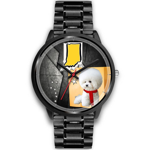 Bichon Frise Indiana Christmas Special Wrist Watch-Free Shipping