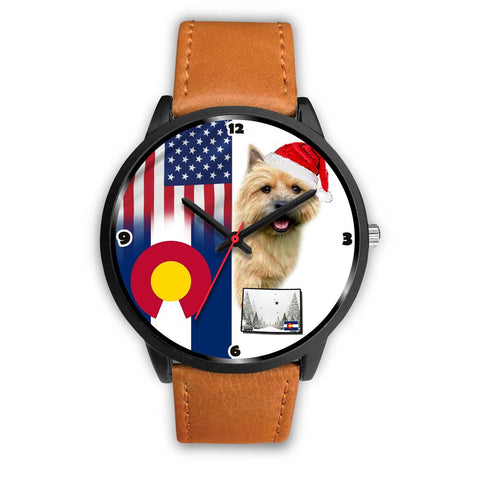 Norwich Terrier Colorado Christmas Special Wrist Watch-Free Shipping