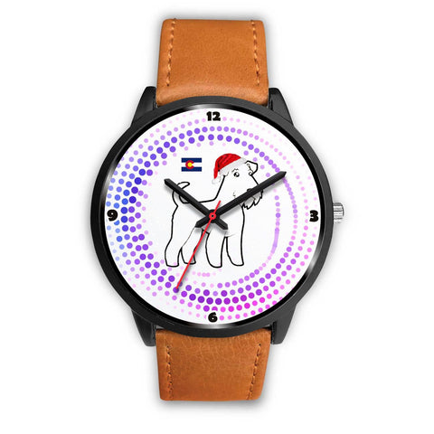 Airedale Terrier Colorado Christmas Special Wrist Watch-Free Shipping