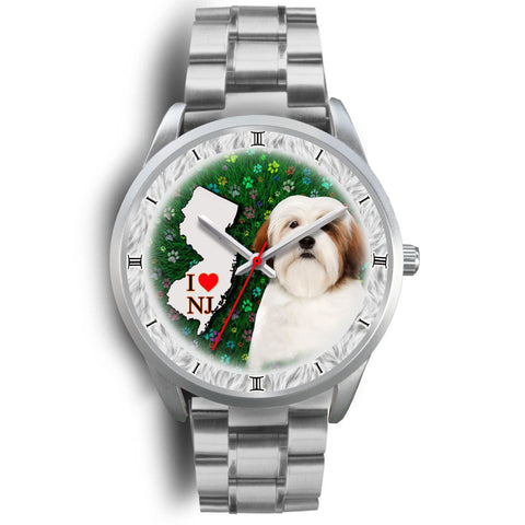 Cheerful Lhasa Apso Dog New Jersey Christmas Special Wrist Watch-Free Shipping