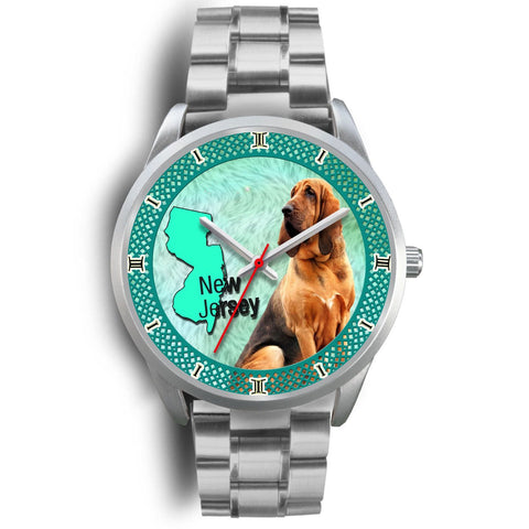 Amazing Bloodhound Dog New Jersey Christmas Special Wrist Watch-Free Shipping