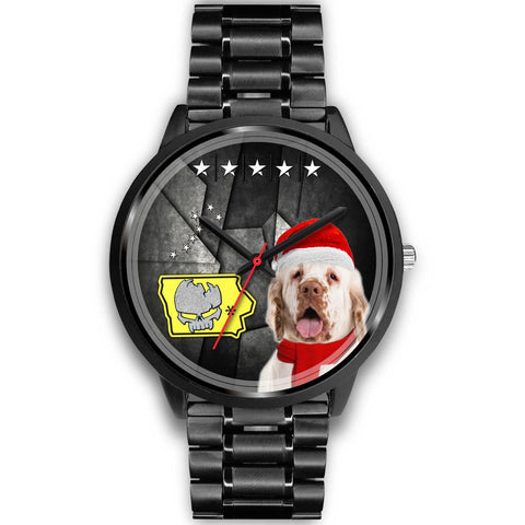 Clumber Spaniel Iowa Christmas Special Wrist Watch-Free Shipping