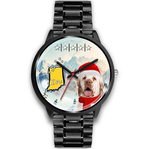 Clumber Spaniel Indiana Christmas Special Wrist Watch-Free Shipping