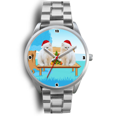 Lovely White Persian Cats Christmas Special Wrist Watch-Free Shipping