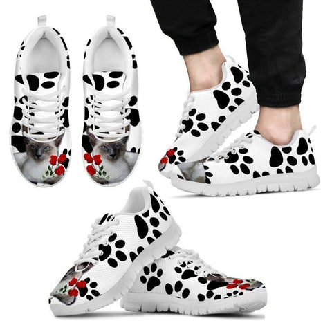 Javanese Cat Print Running Shoes For Men-Free Shipping-Paww-Printz-Merchandise