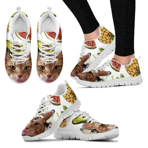Susan Elizabeth 'Smiley Cat' Running Shoes For Women-3D Print-Free Shipping-Paww-Printz-Merchandise