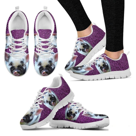 Violet Pig Running Shoes For Women-Free Shipping-Paww-Printz-Merchandise