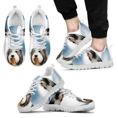 Bearded Collie Dog Running Shoes For Men-Free Shipping-Paww-Printz-Merchandise