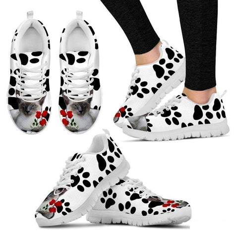 Javanese Cat Print Running Shoes For Women-Free Shipping-Paww-Printz-Merchandise