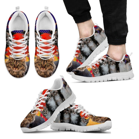 Maine Coon Cat Print Running Shoes For Men- Free Shipping-Paww-Printz-Merchandise