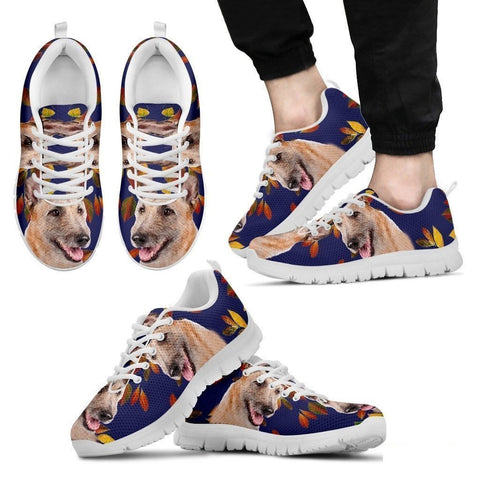 Belgian Laekenois Dog (White/Black) Running Shoes For Men-Free Shipping-Paww-Printz-Merchandise