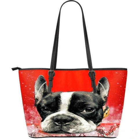Boston Terrier(Dog) -Large Leather Tote Bag-3D Print-Free Shipping-Paww-Printz-Merchandise