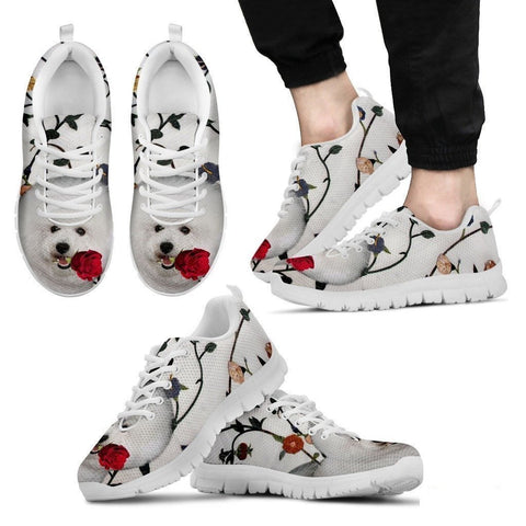 Bichon Frise Dog Running Shoes For Men-Free Shipping-Paww-Printz-Merchandise