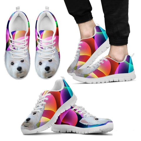 Westie Dog Running Shoes For Men-Free Shipping-Paww-Printz-Merchandise