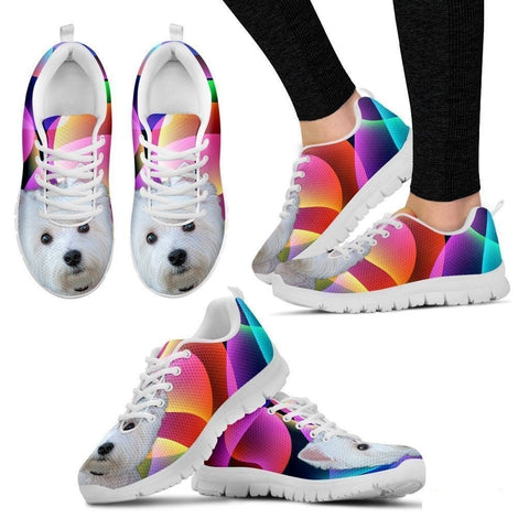 Westie Dog Running Shoes For Women-Free Shipping-Paww-Printz-Merchandise