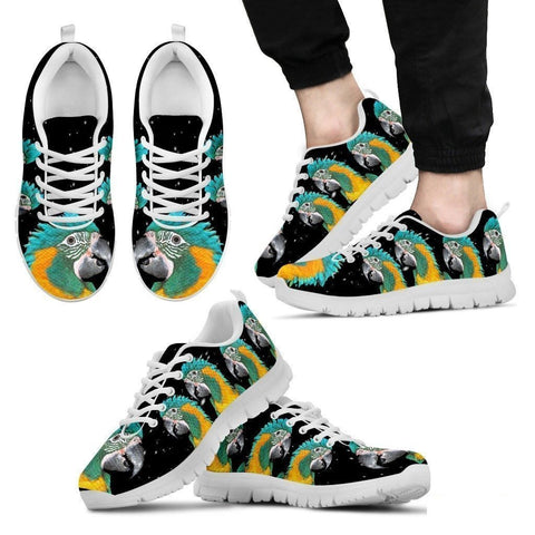 Blue-Threaded Macaw Running Shoes For Men-Free Shipping Limited Edition-Paww-Printz-Merchandise