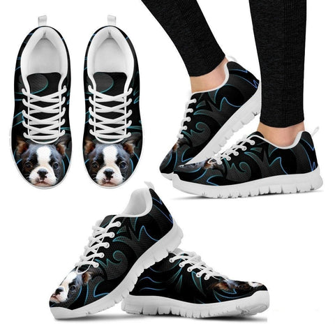 Boston Terrier Running Shoe For Women- Free Shipping-Paww-Printz-Merchandise
