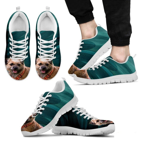 Border Terrier-Dog Running Shoes For Men-Free Shipping Limited Edition-Paww-Printz-Merchandise