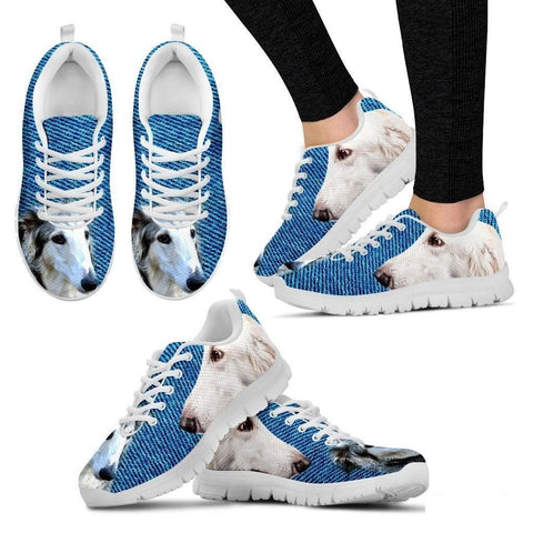 Borzoi-Dog Running Shoes For Women-Free Shipping-Paww-Printz-Merchandise