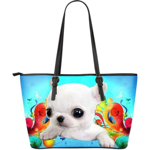 Chihuahua Dog-Large Leather Tote Bag-Free Shipping-Paww-Printz-Merchandise