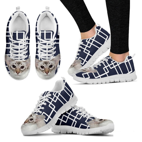 Balinese Cat Print Running Shoes For Women-Free Shipping-Paww-Printz-Merchandise