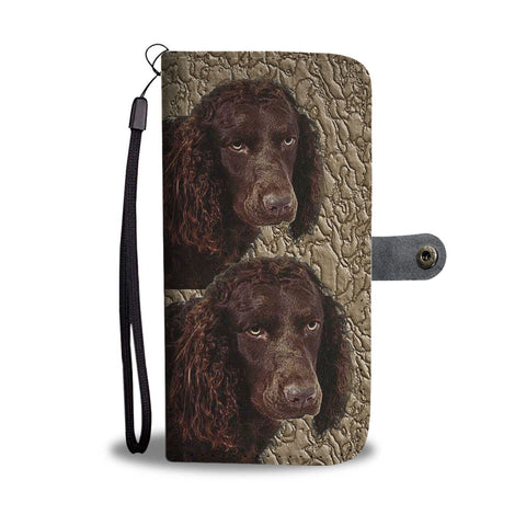 American Water Spaniel Dog Print Wallet Case-Free Shipping
