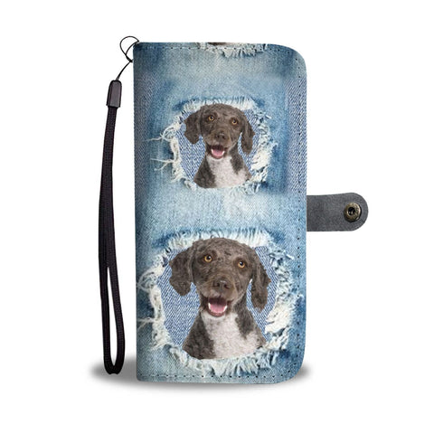 Cute Spanish Water Dog Print Wallet Case-Free Shipping