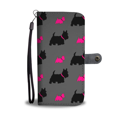 Scottish Terrier Patterns Print Wallet Case-Free Shipping