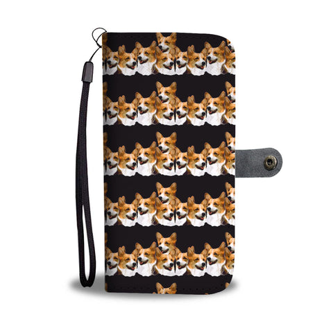 Cardigan Welsh Corgi Pattern Print Wallet Case-Free Shipping