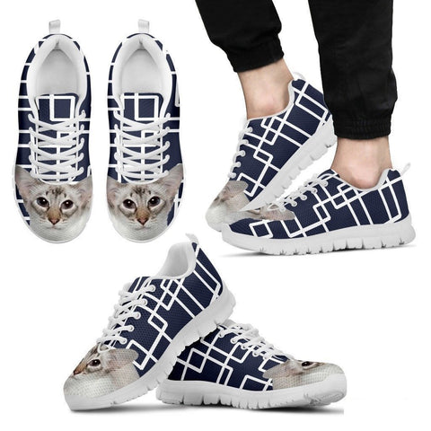 Balinese Cat Print Running Shoes For Men-Free Shipping-Paww-Printz-Merchandise