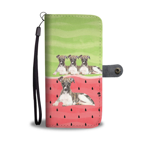 Whippet Dog Print Wallet Case-Free Shipping