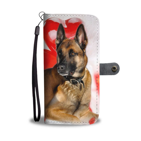 Belgian Malinois Dog White Print Wallet Case- Free Shipping