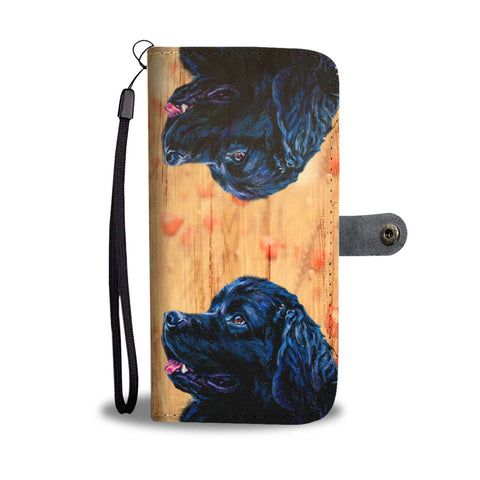 Amazing Newfoundland Dog Print Wallet Case-Free Shipping