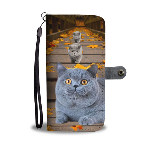 Amazing British Shorthair Cat Print Wallet Case-Free Shipping