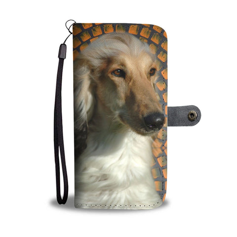 Hand Crafted Afghan Hound Dog Print Wallet Case-Free Shipping