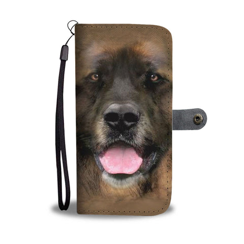 Leonberger Dog Print Wallet Case-Free Shipping