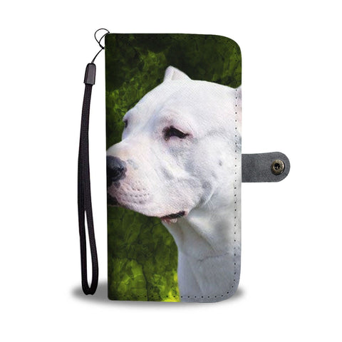 Amazing Dogo Argentino Dog Pattern Print Wallet Case-Free Shipping