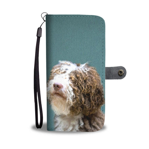 Amazing Spanish Water Dog Pattern Print Wallet Case-Free Shipping