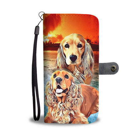 Cute English Cocker Spaniel Print Wallet Case- Free Shipping