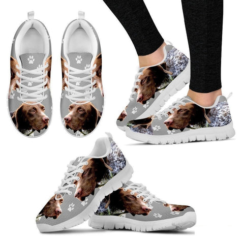 BRAQUE FRANCAIS PYRENEAN Printed (Black/White) Running Shoes For Women-Free Shipping-Paww-Printz-Merchandise