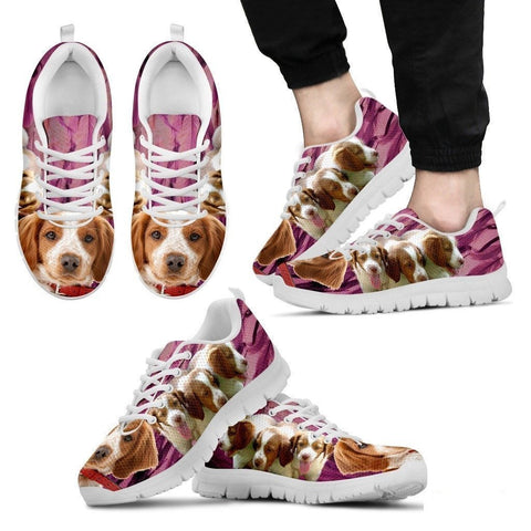 Brittany-Dog Running Shoes For Men-Free Shipping Limited Edition-Paww-Printz-Merchandise
