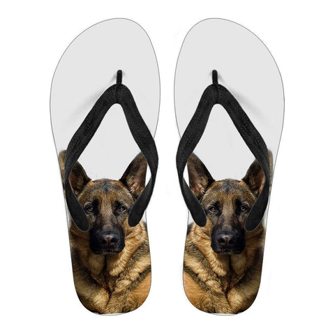German Shepherd Print Flip Flops For Women-Free Shipping-Paww-Printz-Merchandise