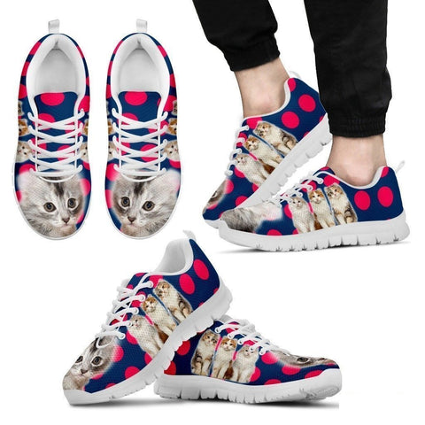 Beautiful American Curl Cat Print Sneakers For Men- Free Shipping-Paww-Printz-Merchandise