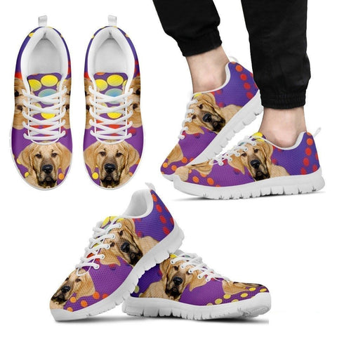 Broholmer Dog (White/Black) Running Shoes For Men-Free Shipping-Paww-Printz-Merchandise