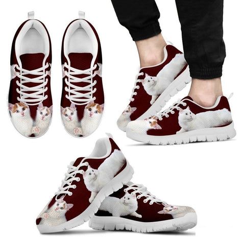 Cute Turkish Van Cat Print Sneakers For Men(White)- Free Shipping-Paww-Printz-Merchandise