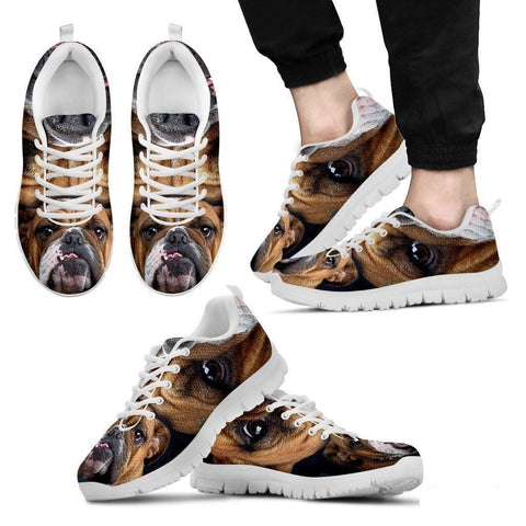 Bulldog-Running Shoes For Men -Free Shipping-Paww-Printz-Merchandise